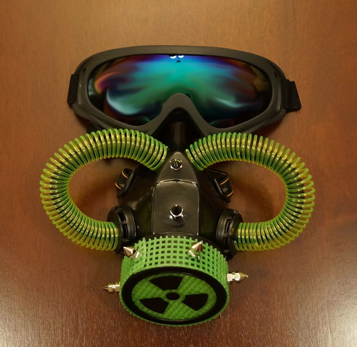 Bio Hazard Aviator Gas Mask & Goggles Costume Accessory