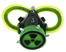 Bio Hazard Green Gas Mask Costume Respirator