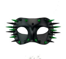 Black And Green Spike Mask  Cosplay Costume Mask