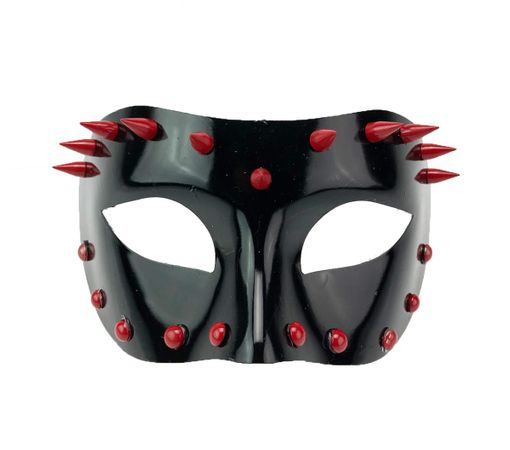 Black And Red Spike Mask Cosplay Punk Costume Mask