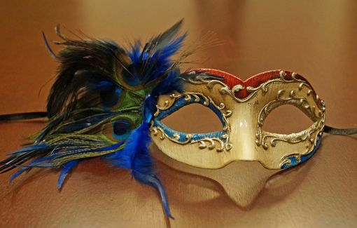 Blue Feather Mask