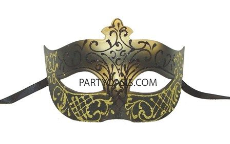 Black & Gold Venetian Masquerade Mask