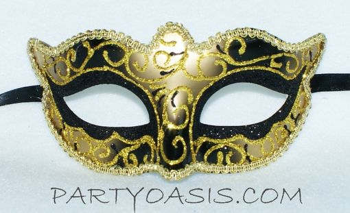 Black And Gold Masquerade Ball Mask Venetian Party Mask
