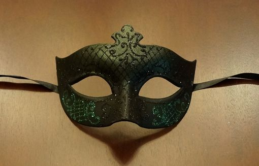 Black Green Masquerade Mask