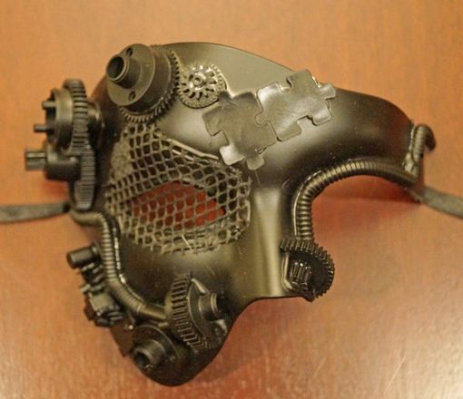 Black Half Steam Punk Mask