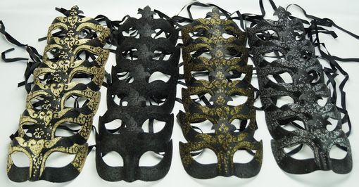 Black Masquerade Eye Mask Party Pack