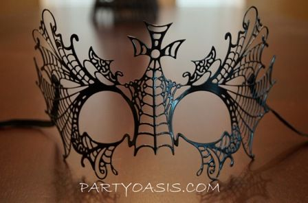 Party Black Metal Masquerade Mask