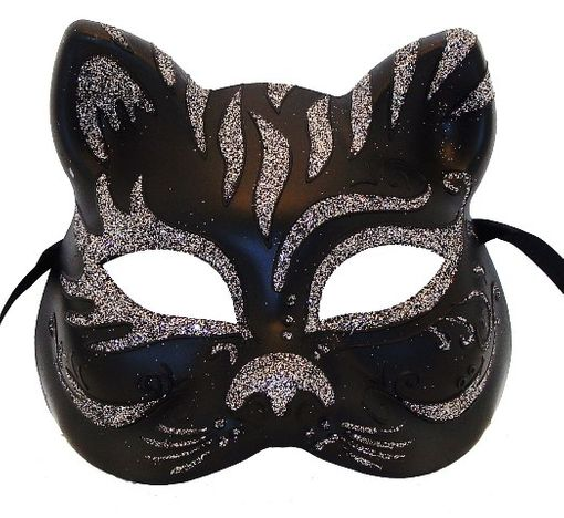 Black & Pewter Cat Mask