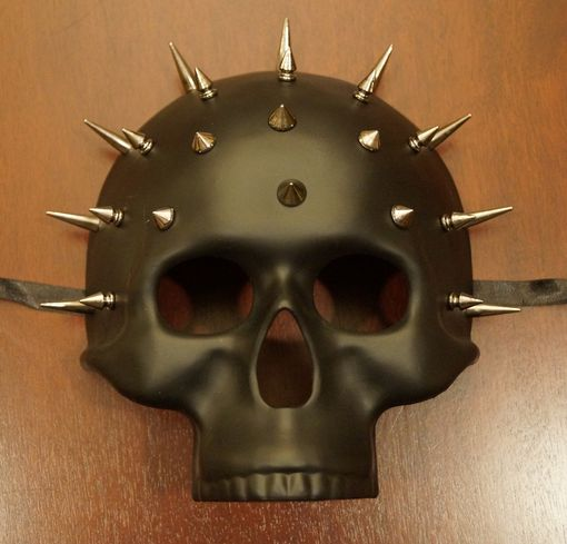 Black Spike Skull Mask