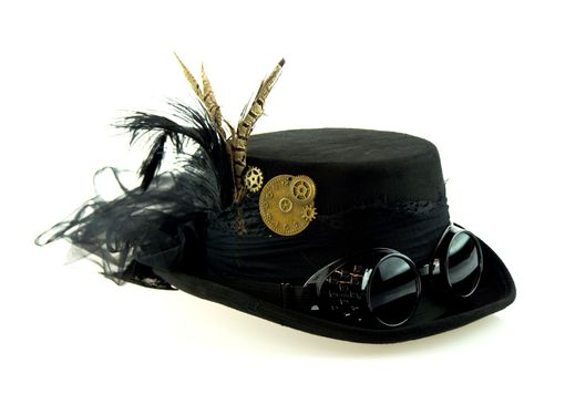 Black Victorian Steampunk Hat