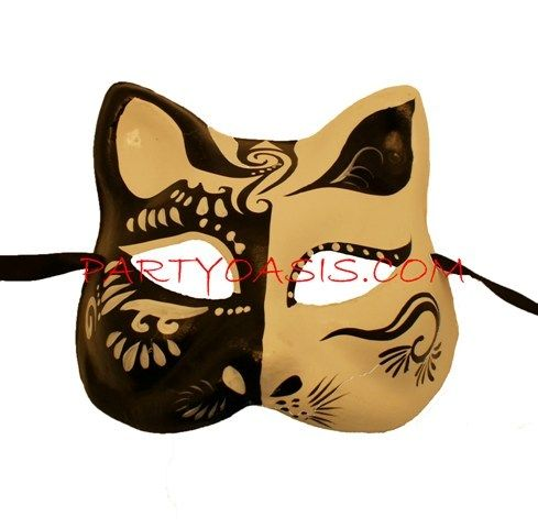 Black & White Cat Mask
