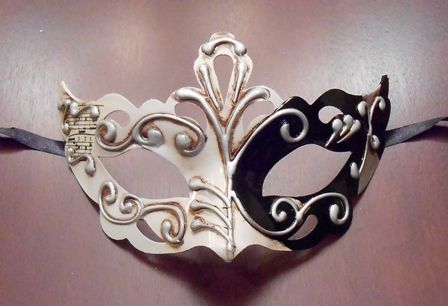 Black White Masquerade Mask