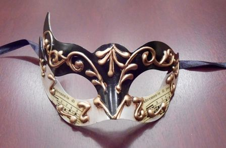 Black White Venetian Mask
