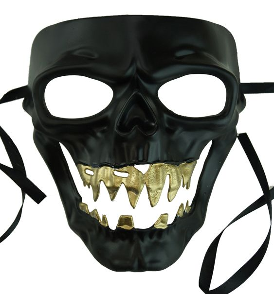 Black Zombie Mask Halloween Monster Skull Mask