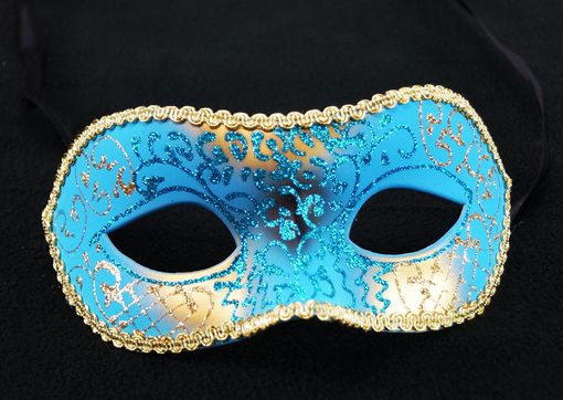 Blue And Gold Venetian Masquerade Mask