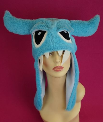 Blue Furry Monster Hat