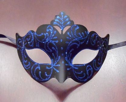 Blue Masquerade Mask