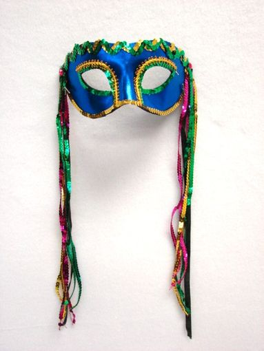 Bourbon Street Eye Blue Masquerade Mask