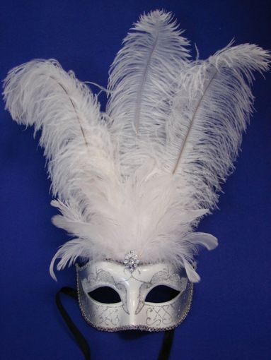 Bridal Feather Eye Mask