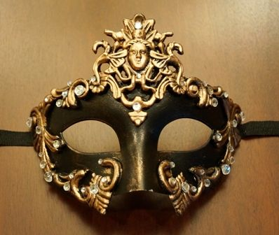 Bronze Goddess Masquerade Mask