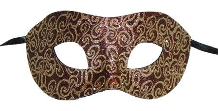 Bronze Swirl Eye Mask