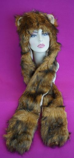 Brown Cat Faux Fur Hat