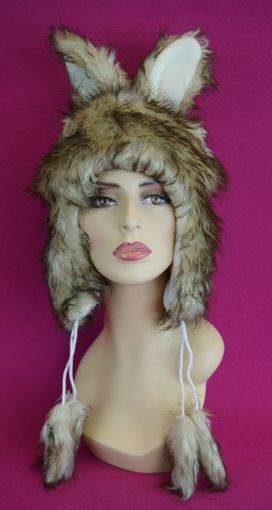 Brown Faux Fur Bunny Hat