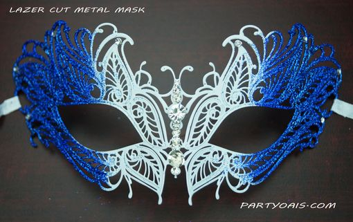 Butterfly Lazer Cut Masquerade Mask Blue