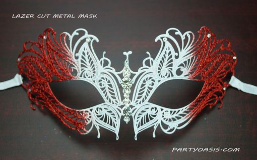 Red Butterfly Lazer Cut Masquerade Mask