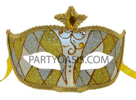 Carnival Eye Yellow Masquerade Mask