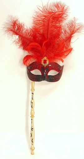 Carnival Eye Mask With Removable Stick