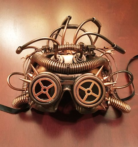 Cephalopod Steam Punk Mask Copper