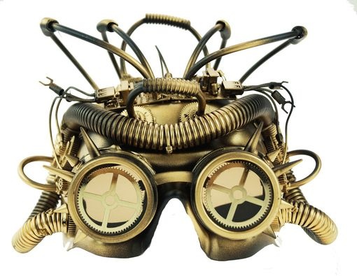 Gold Steampunk Mask With Gears