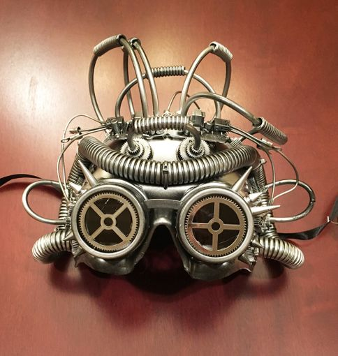 Cephalopod Steam Punk Mask Silver
