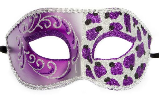 Cheetah Masquerade  Eye Mask Pruple