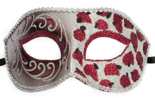 Cheetah Red Masquerade Mask