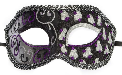 Cheetah Masquerade Mask Black