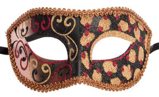 Cheetah Masquerade Mask Copper