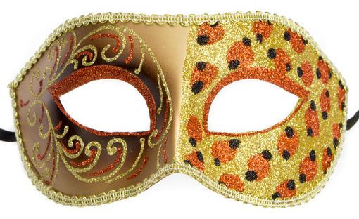 Cheetah Gold Masquerade Mask