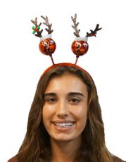 Christmas Red Reindeer Headband Holiday Festive Headdress