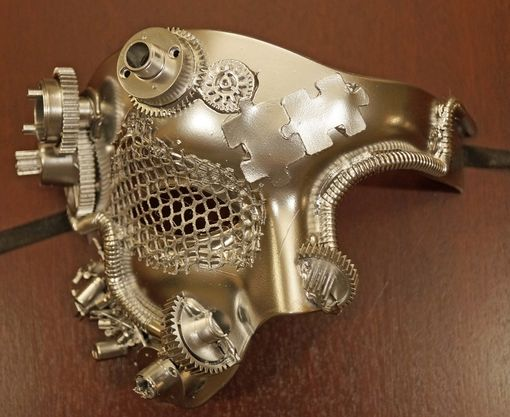 Chrome Half Steam Punk Mask