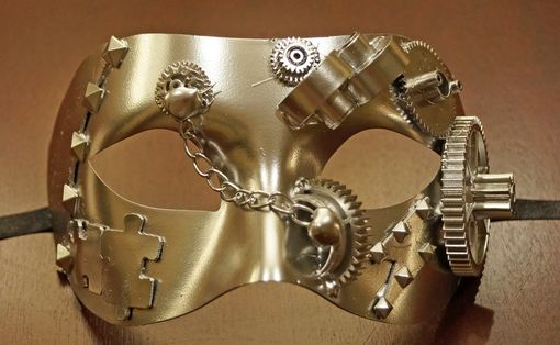 Chrome Steam Punk Eye Mask