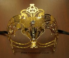 Cleopatra Lazer Cut Masquerade Eye Mask Gold
