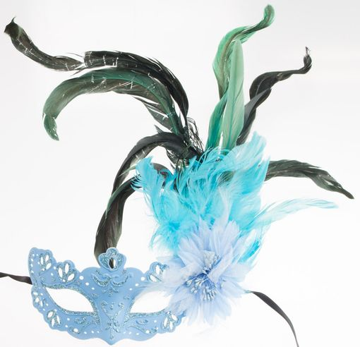 Colette Feather Eye Mask Blue