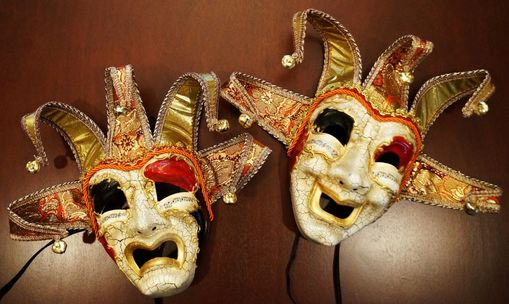 Comedy And Tragedy Jester Masks Set Of Two