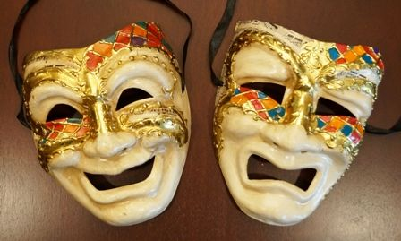 Comedy And Tragedy Mask Set
