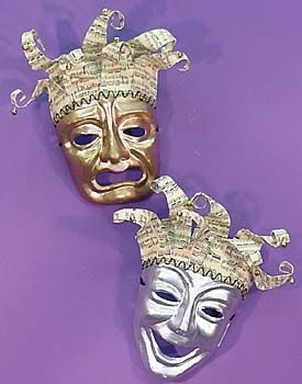 Comedy Tragedy Musica Masks Set