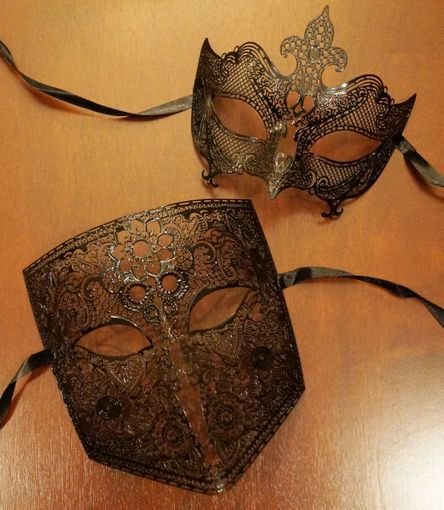 Connected Couples Masquerade Masks