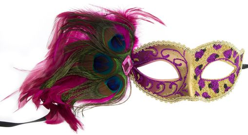 Courtney Feather Eye Mask Pink