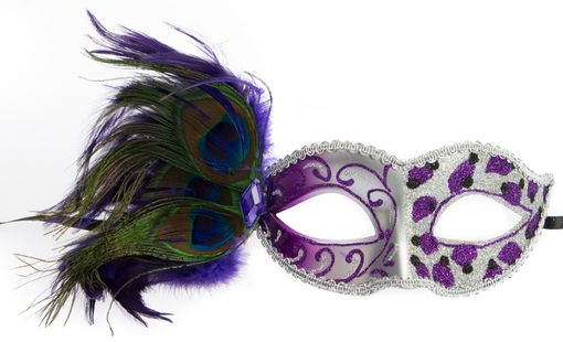 Courtney Feather Eye Mask Purple
